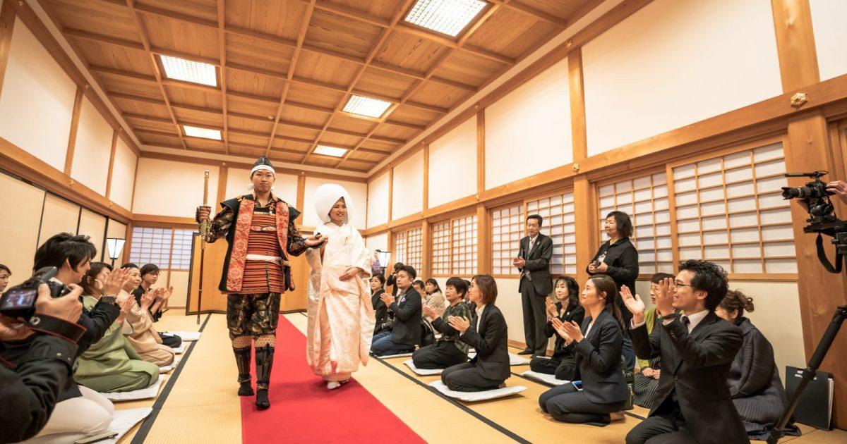 オリジナル和装人前式の神戸新聞記事